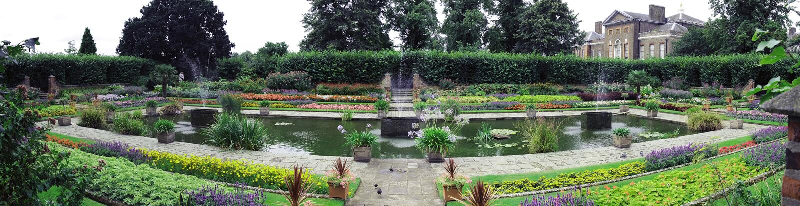 Jardín Sunken fotografía de archivo libre de regalías