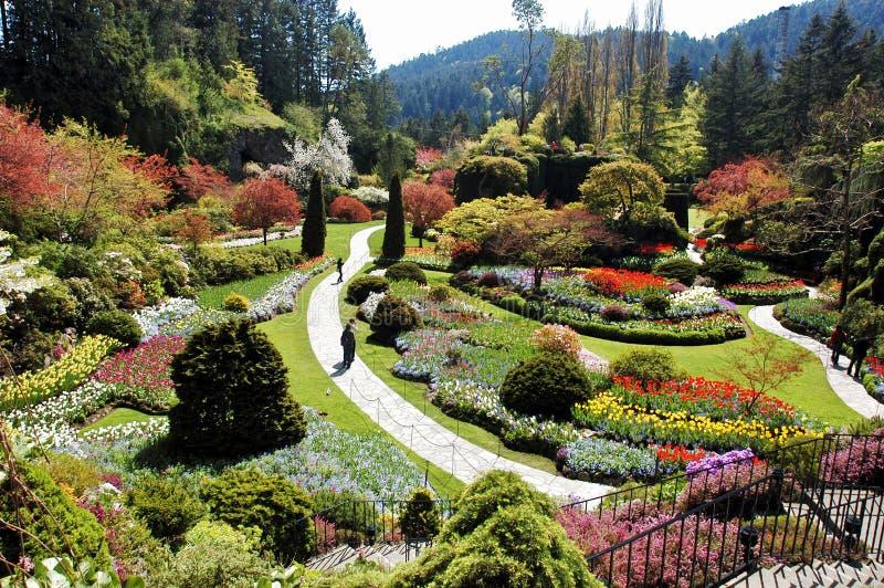 Jardín Sunken imagen de archivo