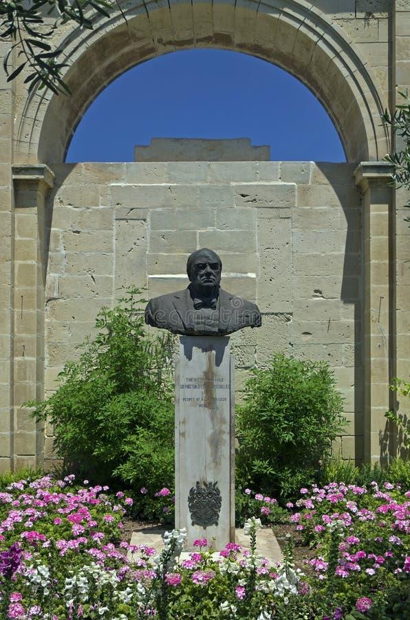 Jardín superior de Barracca – La Valeta, Malta imagenes de archivo