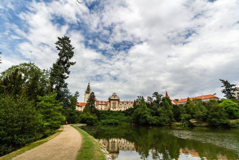Jardín y alrededores, Praga de Pruhonice imágenes de archivo libres de regalías