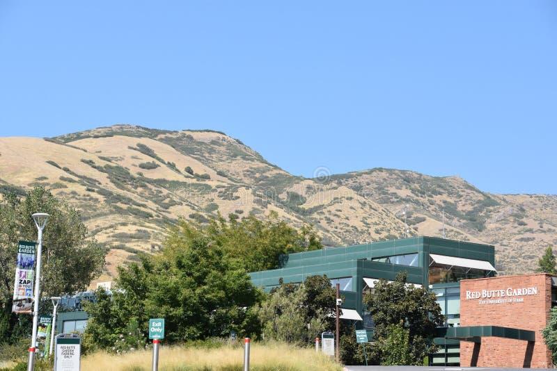 Jardín y arboreto rojos de la mota en Utah fotografía de archivo libre de regalías