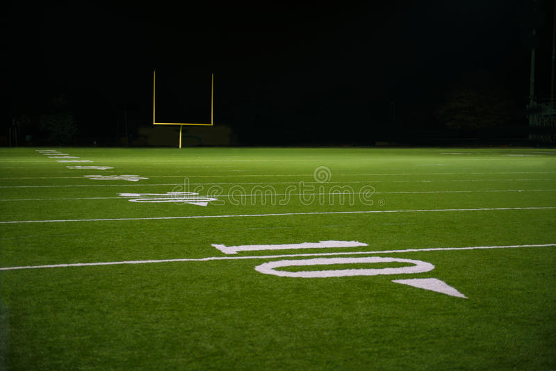 Jard linia na futbolu amerykańskiego polu i liczby