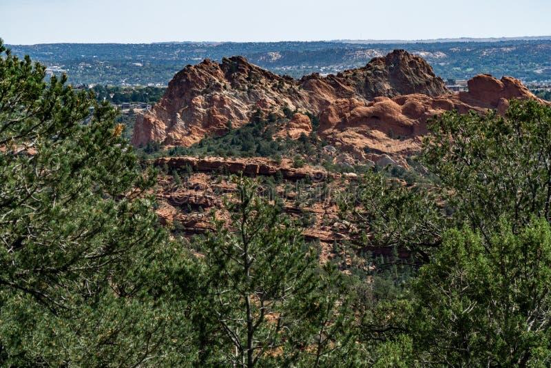Jard?n de la regi?n del Pikes Peak de Colorado Springs de dioses imagen de archivo