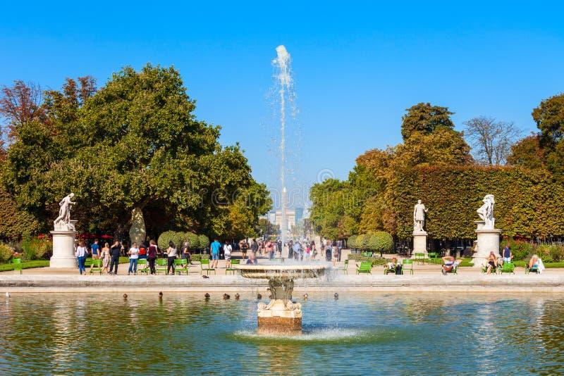 Jard?n del DES Tuileries de Jardin, Par?s foto de archivo