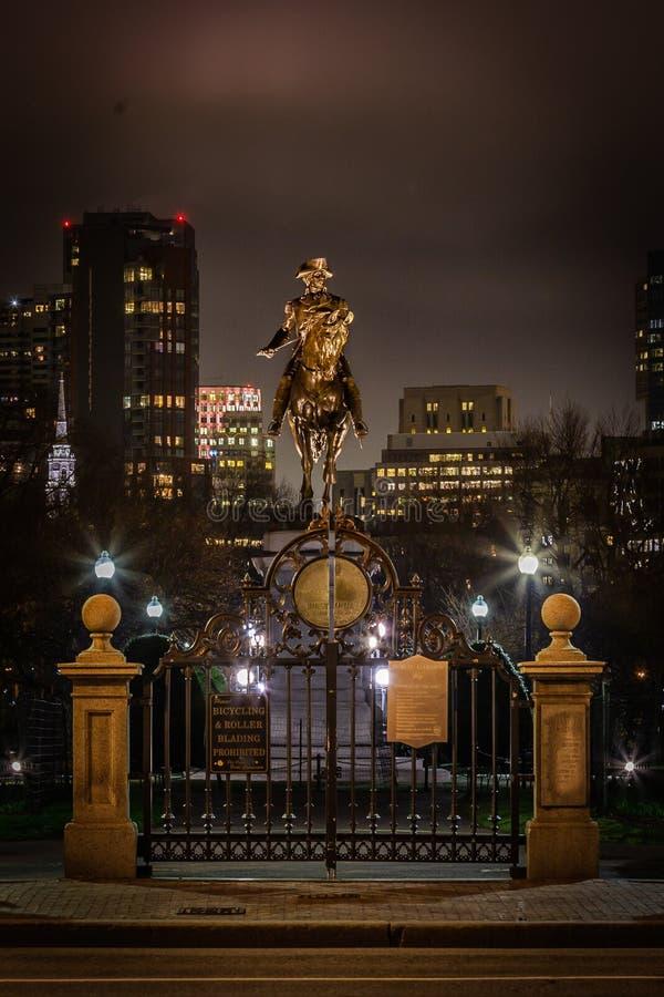 Jard?n p?blico de Boston fotos de archivo libres de regalías