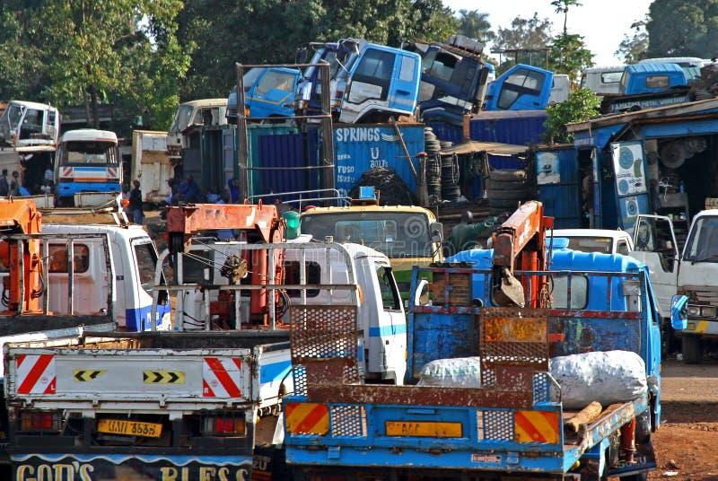 Jarda africana do caminhão fotografia de stock