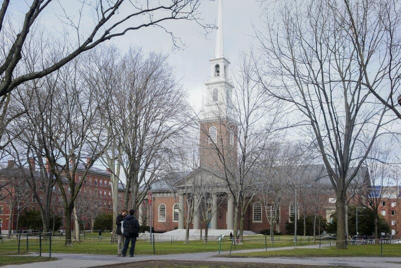 Jarda de Harvard e igreja do memorial imagens de stock royalty free