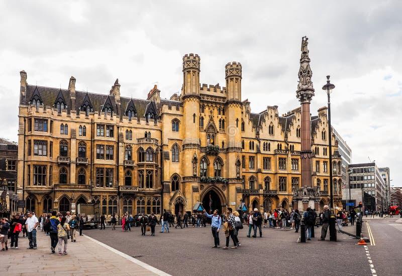 Jarda de Westminster Abbey Dean em Londres, hdr imagem de stock royalty free