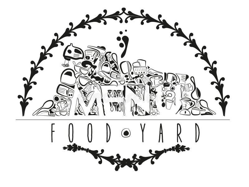 Jarda do alimento do menu ilustração do vetor