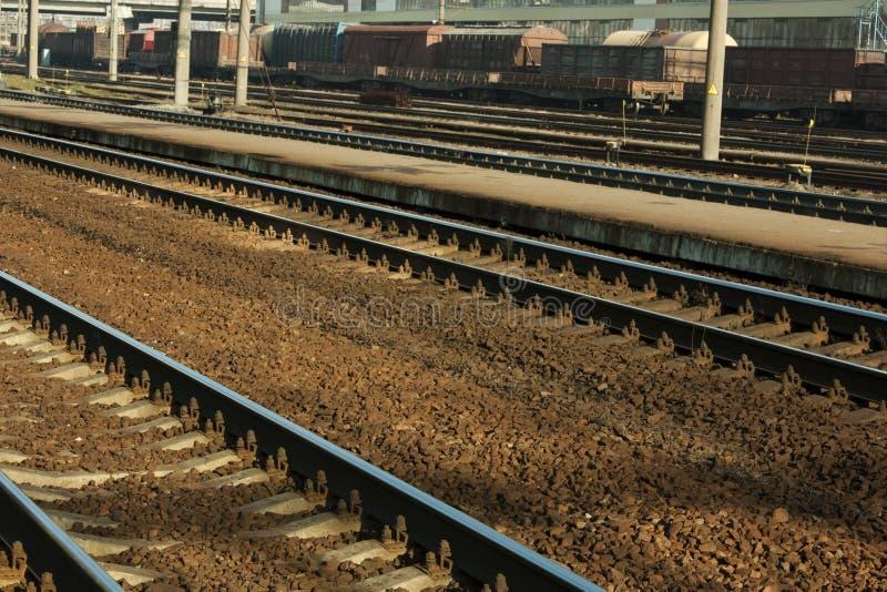 Download Jarda Railway imagem de stock. Imagem de trilho, controle - 16866635