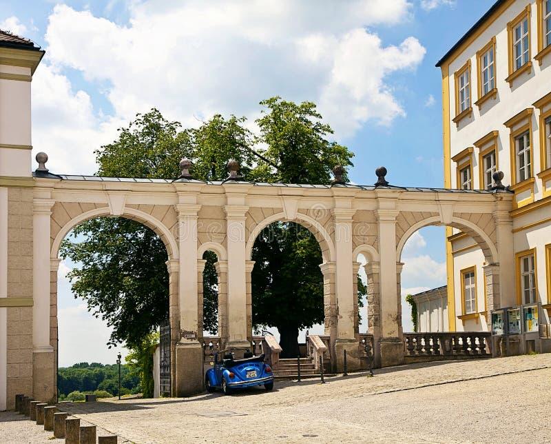 Jarda wejście Freising katedra, Bavaria, Niemcy obrazy stock