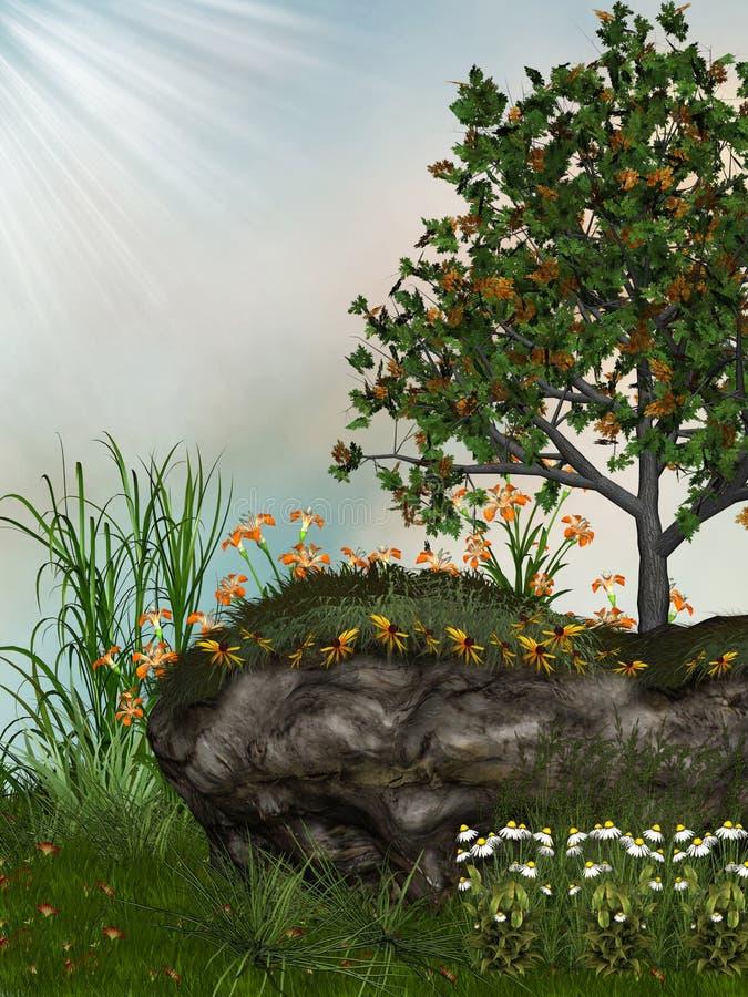 Jardim ilustração do vetor