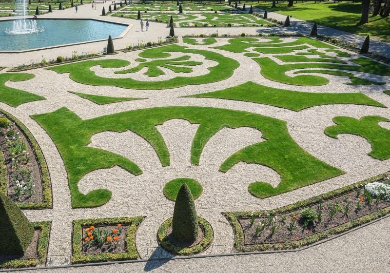 Jardim barroco holandês de Loo Palace em Apeldoorn fotografia de stock royalty free