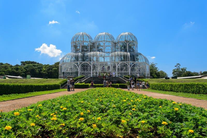Jardim botânico, Curitiba, Brasil imagens de stock royalty free