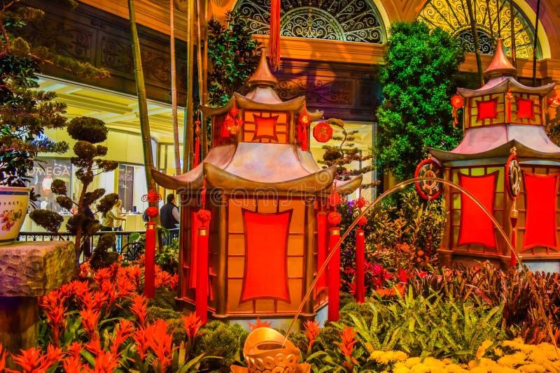 Jardim botânico do hotel de Bellagio fotografia de stock royalty free