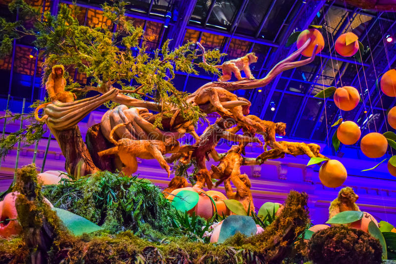 Jardim botânico do hotel de Bellagio imagens de stock royalty free