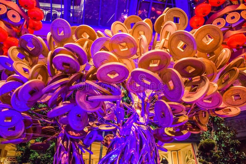 Jardim botânico do hotel de Bellagio imagem de stock