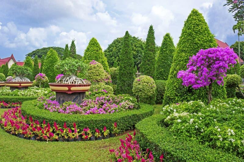 Jardim botânico tropical de Nong Nooch, Pattaya, Tailândia fotos de stock royalty free