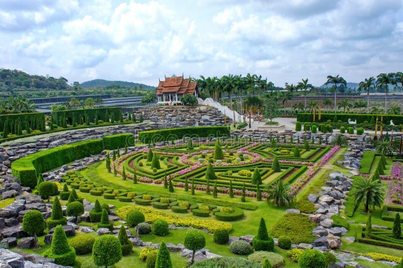 Jardim botânico tropical de Nong Nooch, Pattaya, Tailândia foto de stock