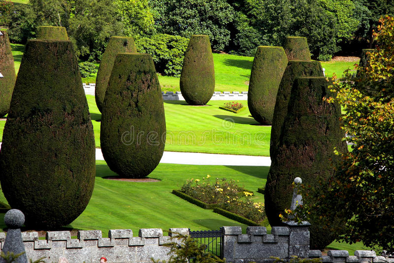 Jardim britânico tradicional fotografia de stock