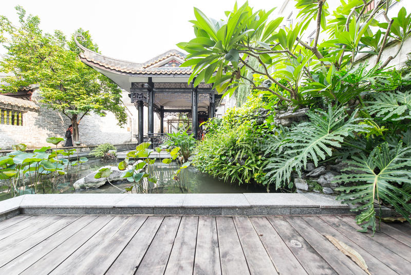 Jardim chinês clássico fotografia de stock royalty free