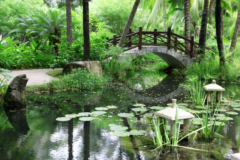 Jardim chinês clássico, China fotos de stock