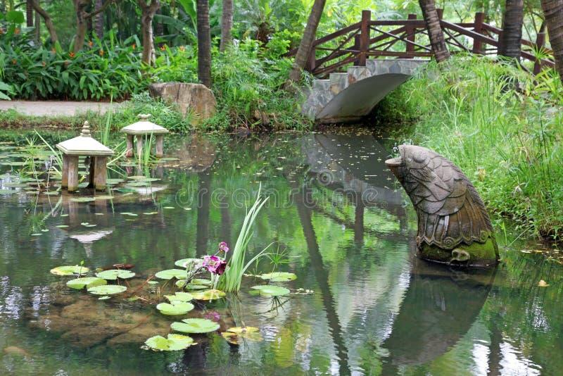 Jardim chinês clássico, Sul da China foto de stock royalty free