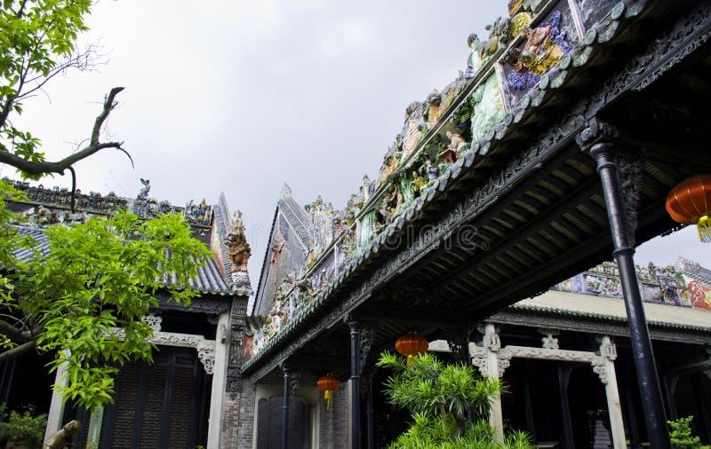 Jardim chinês de construções velhas antigas fotos de stock