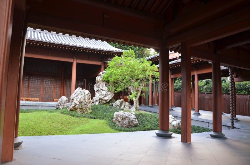 Jardim chinês do zen foto de stock