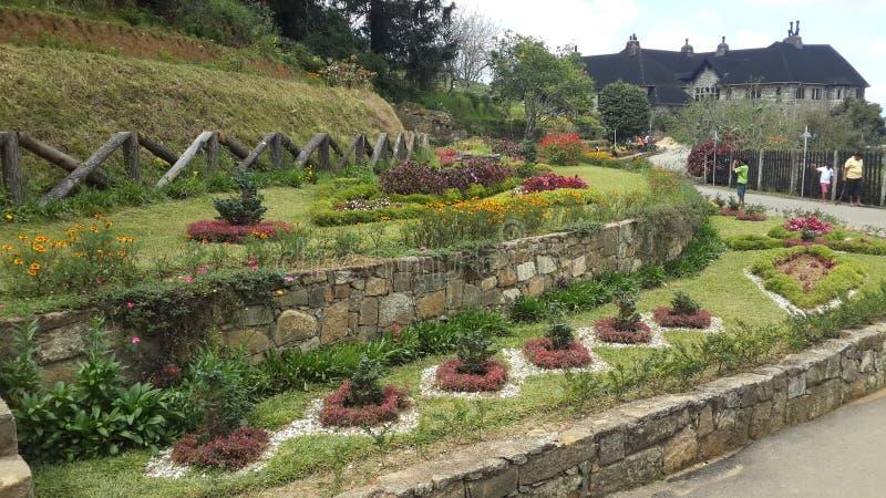 Jardim cingalês do bungalow de Adisham fotos de stock royalty free