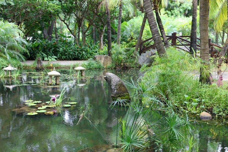 Jardim clássico do chinês tradicional, Sul da China imagem de stock