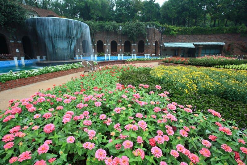 Jardim, console vulcânico de Jeju imagem de stock