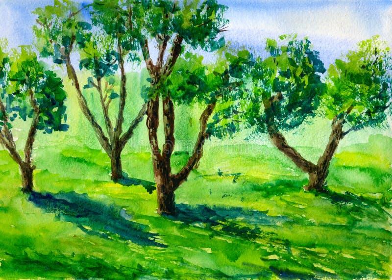 Jardim da árvore de Apple ilustração stock