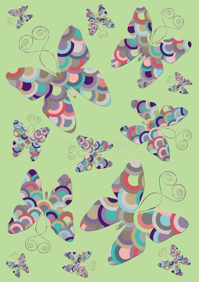 Jardim da borboleta ilustração do vetor