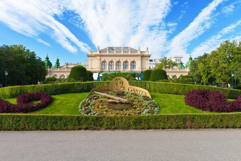 Jardim da cidade em Viena, Áustria imagens de stock royalty free