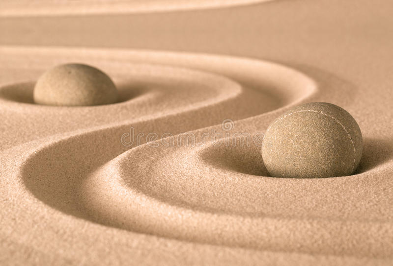 Jardim da espiritualidade do zen imagens de stock royalty free