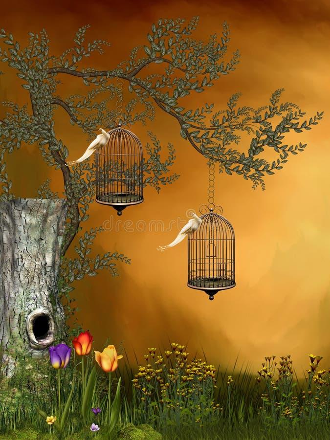 Jardim da fantasia ilustração royalty free