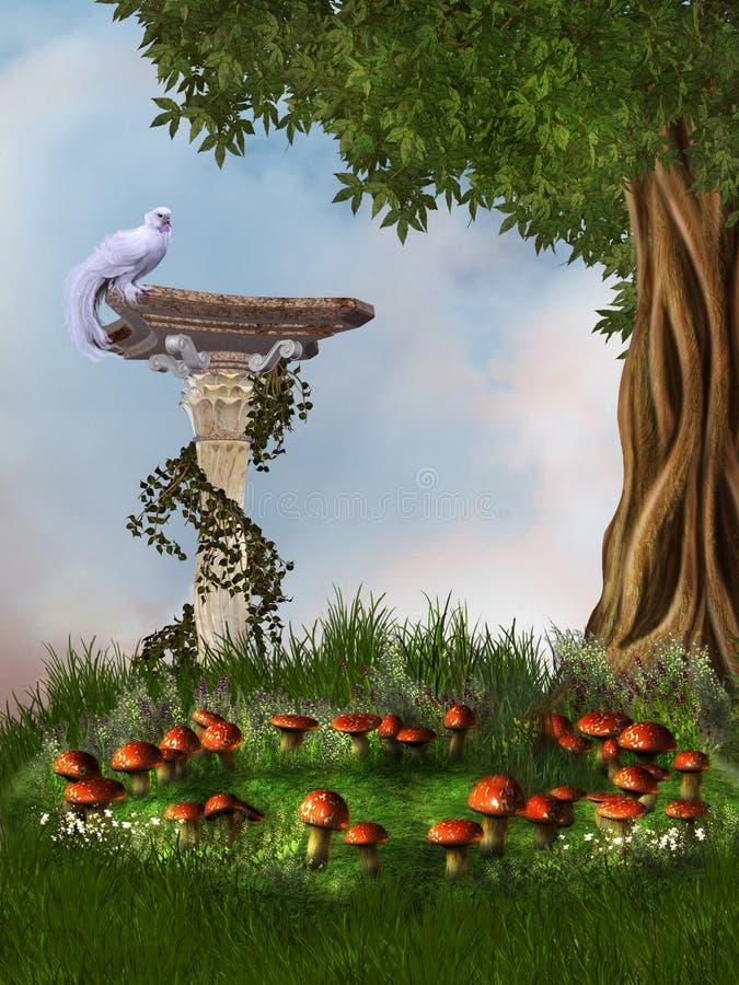 Jardim da fantasia ilustração do vetor