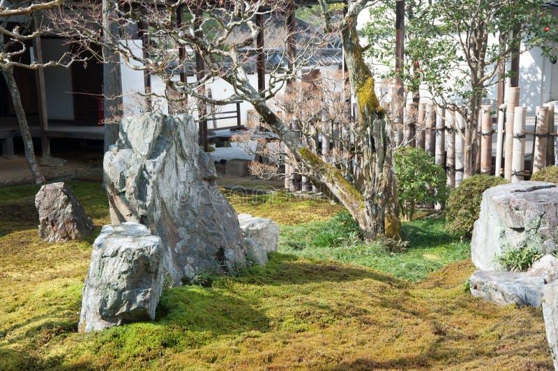 Jardim da meditação do templo de Nanzenji fotos de stock