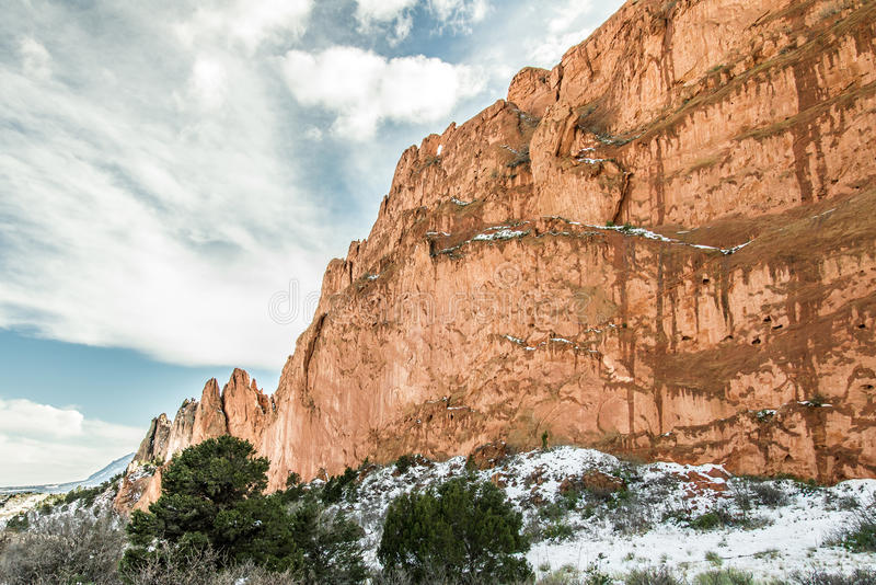 Jardim da neve do inverno dos deuses fotografia de stock