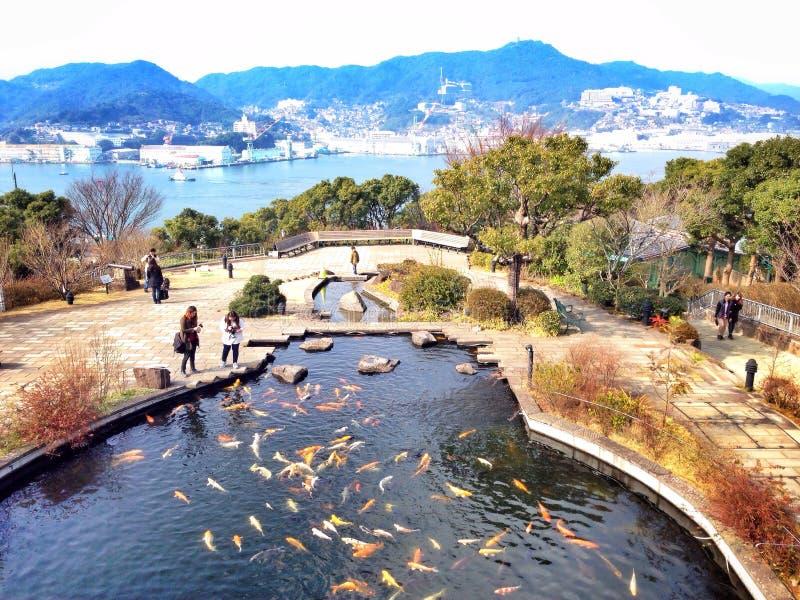 Jardim da porta-luvas em Nagasaki fotos de stock