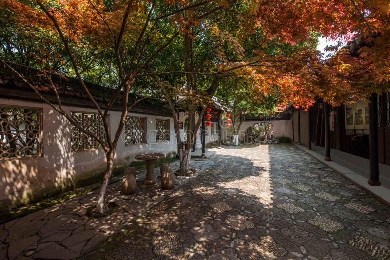 Jardim da retirada da cidade antiga de Wujiang Tongli fotos de stock