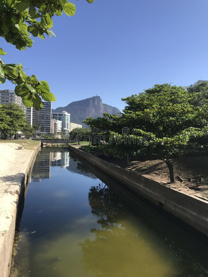 Jardim de Alah - Christ the Redeemer stock photo
