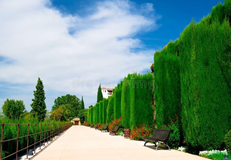 Jardim de Alhambra imagens de stock