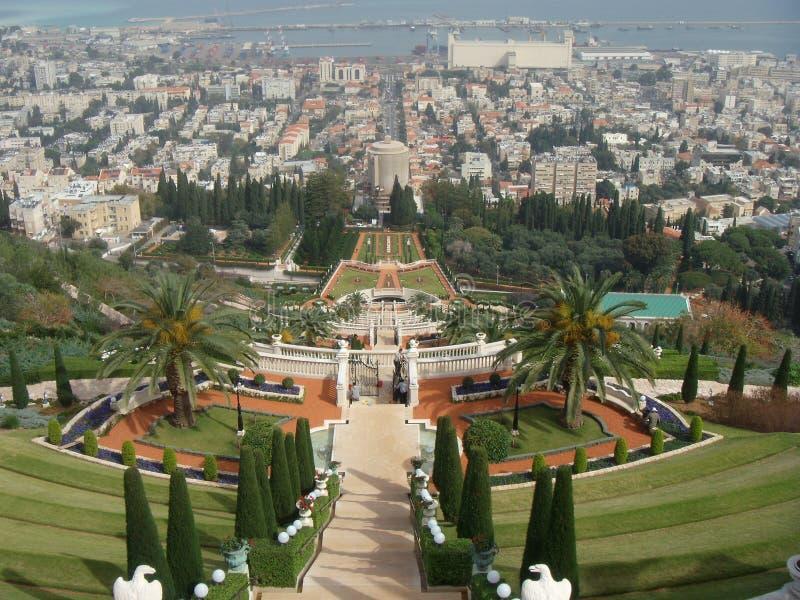 Jardim de Bahai, Haifa fotos de stock