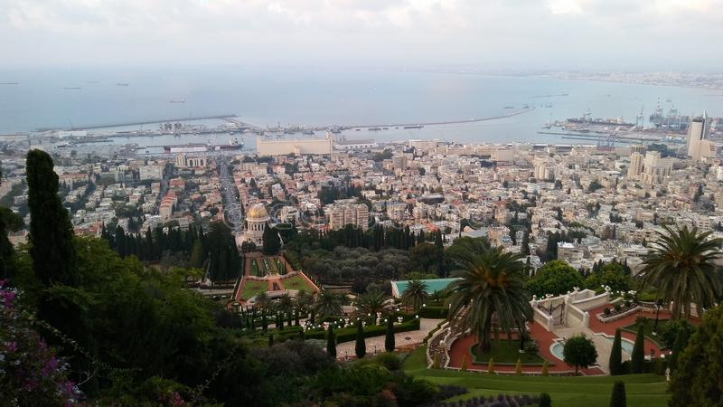 Jardim de Bahim, haifa, Israel fotos de stock