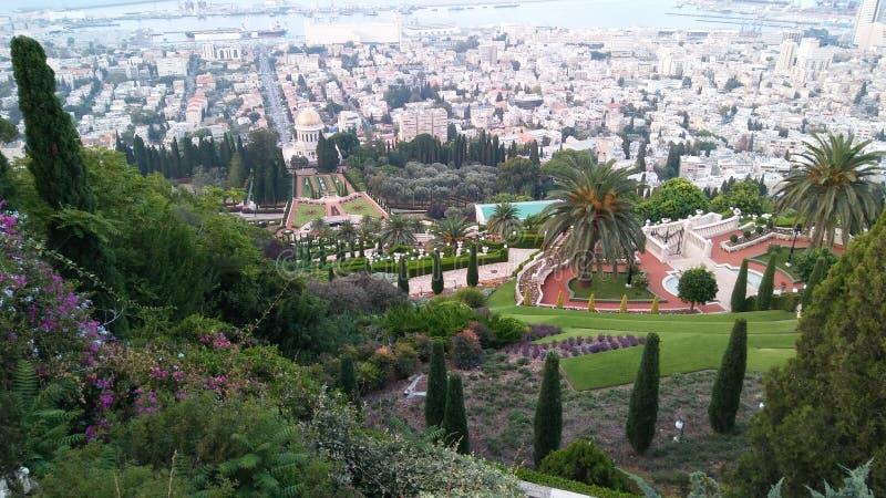 Jardim de Bahim, haifa, Israel fotos de stock royalty free