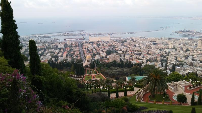 Jardim de Bahim, haifa, Israel foto de stock royalty free