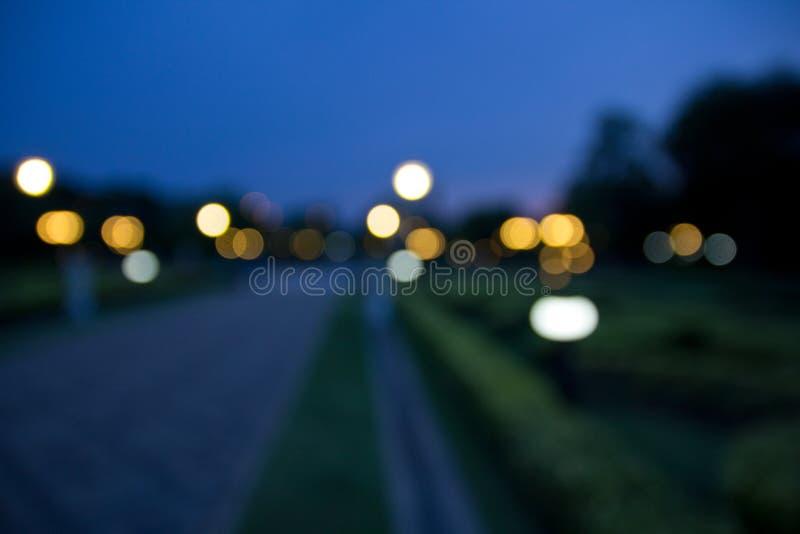 Jardim de Bokeh no crepúsculo fotos de stock royalty free