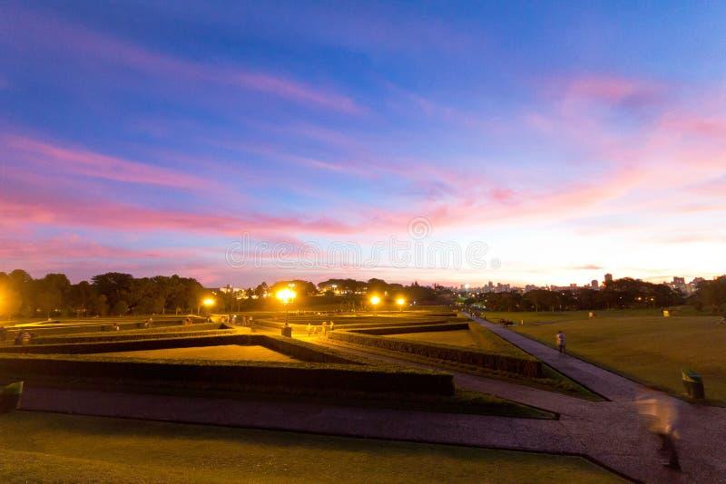 Jardim de Bothanical, Curitiba, Brasil imagem de stock royalty free